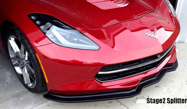 C7 Corvette Grand Sport front splitter